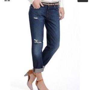 J Brand Aidan Ringer distressed boyfriend jeans